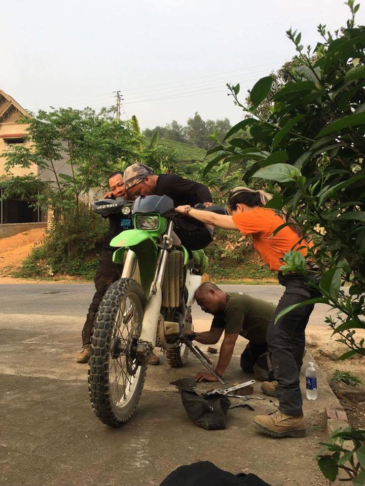 Motor bike tours in Hochiminh trails